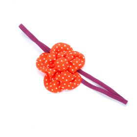 girls polka dot flower headband
