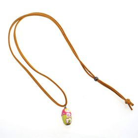 girls Baby Doll Necklace - Yellow