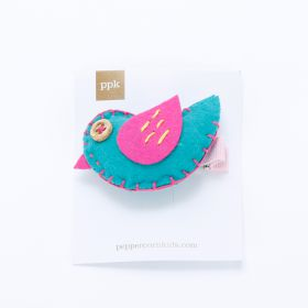 girls Patchwork Bird Hair Clip