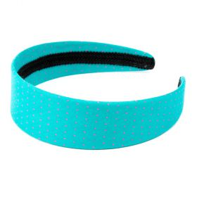 girls Polka-Dot Headband - Aquamarine