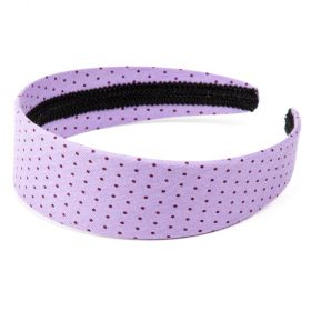 girls Polka-Dot Headband - Light Lavender