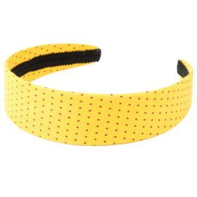 girls Polka-Dot Headband - Sunny Yellow