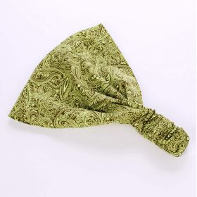 Girls Exotic Paisley Bandana Headwrap - Citrus Green