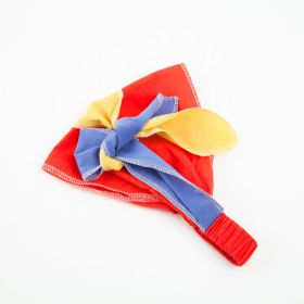 girls Color Block Bandana Headwrap
