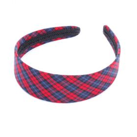 plaid hard headband