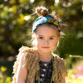 girls Exotic Print Knotted Headband