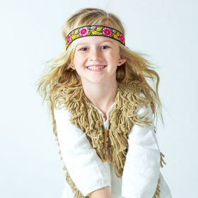 girls Jacquard Flower Ribbon Headband