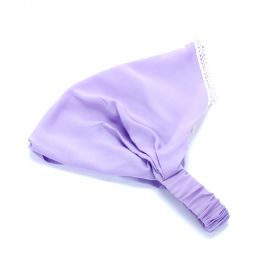 girls Solid Silky Head Scarf