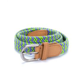 girls stretch cord belt - purple/green