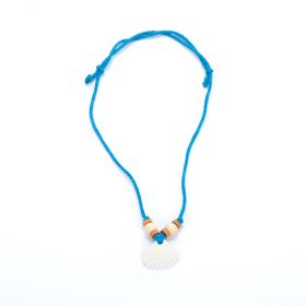 Girls Seashell Necklace - Blue