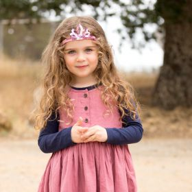 Girls Sequin Tiara Headband - Pink