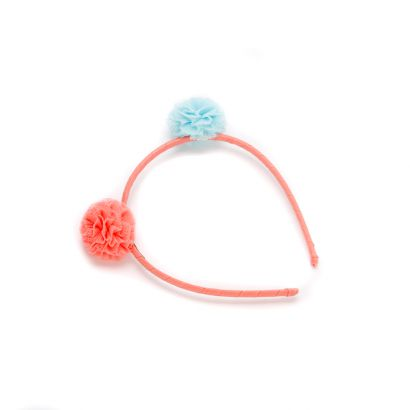 girls Bumblebee Pompom Headband - Peach