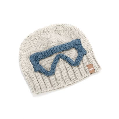 Boys Ski Goggle Knit Beanie - Light Grey