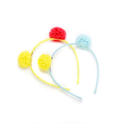 Bumblebee Pompom Headband Set - Yellow / Blue